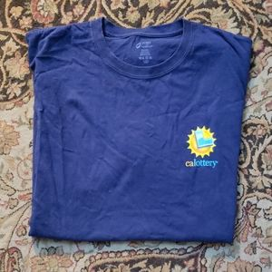 California Lottery crew neck graphic tee size XL